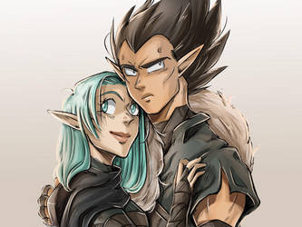 Dragonball/DragonAge Crossover - Couple Meme 1 by RedViolett