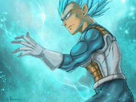 Dragon Ball Super - Blue Inferno by RedViolett