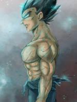 Dragon Ball Super - Painting practise 2 - Vegeta by RedViolett
