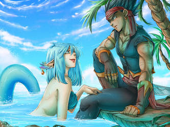 DBZ - Vegebul - Mermay Pirate AU by RedViolett