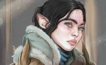 DragonAge Inquisition: Nevara Lavellan by RedViolett