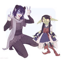 Nott and Jester Critical Role Dungeons and Dragons by Naimly