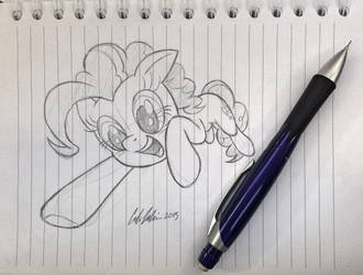 Pinkie Pounce (sketch) by RedApropos