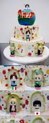 Hetalia Cake by KralleCakes