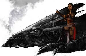 Dragon rider 2nd version by Trishkell