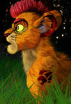 Kion and night (fur version) by YoungLadyArt
