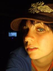 Self Portrait -In a Hat- by digitalDYKE
