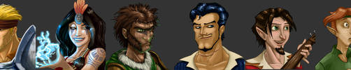 Portraits by Frol-Nounours
