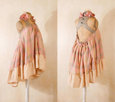 Shabby chic dress in pastel gingham by Mynoush