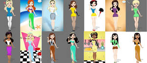 pin-up princesses by sodamnboring