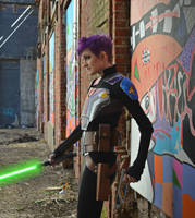 Epilogue Sabine Wren Cosplay with lightsaber by mblackburn