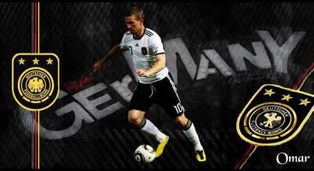 Lukas Podolski Germany by OmaR-GeNtLeMaN