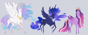 MLPFIM headcanon: Part 1 : Alicorns by Atroquin