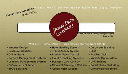 James Deon Consultancy Business Card by ziggyrafiq