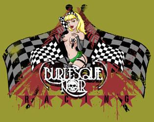 Burlesque Noir Racing t-shirt by Artassassin