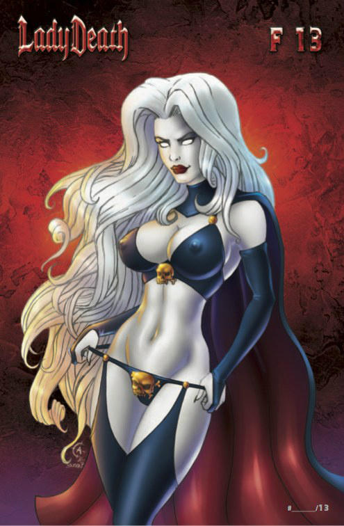 Lady Death Friday the 13th cover by Artassassin