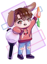 BTS Jungkook chibi fanart by Maybelle2519