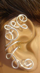 silver wire loops ear cuff by cottonpatch