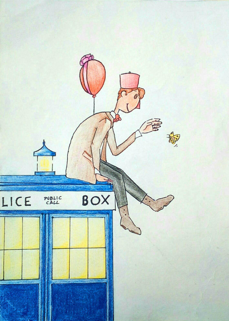 The 11th Doctor And A Butterfly by PantaRei-Kikky