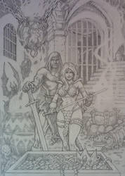 RED SONJA and Friends by CWmaxWorld