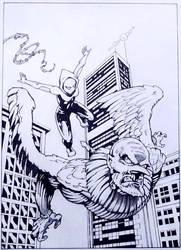 Spider-Gwen and Vulture by CWmaxWorld