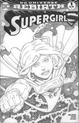 SUPERGIRL on Comic Blank by CWmaxWorld