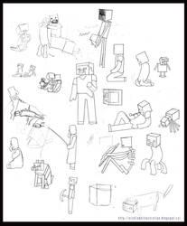 Minecraft Grande Jatte Development Sketches by Suntro