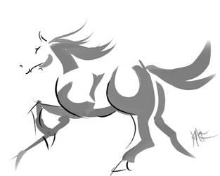 DigitalSumi-e_Horse by DreamKeeperArts