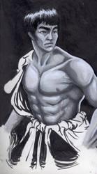 Bruce Lee Portrait by DreamKeeperArts