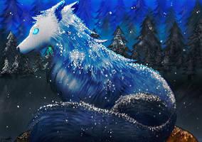 Lobo bajo la nieve by Shimi34
