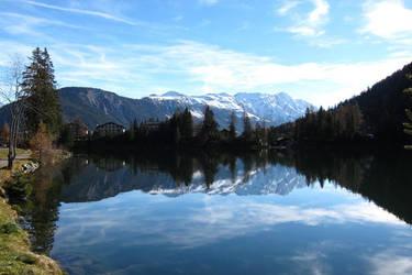 Switzerland Champex-Lac Mirror by elodie50a