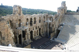 Athens, Acropolis theater by elodie50a