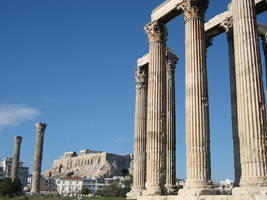Athens, Temple Zeus by elodie50a