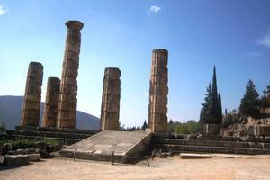 Greece, Delphi Apollo temple 3 by elodie50a