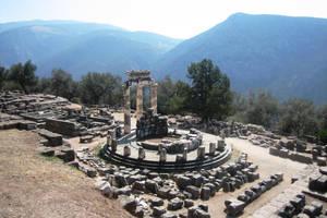 Greece, Delphi Athena temple by elodie50a