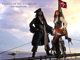 Captain Jack Sparrow and I by elodie50a