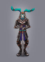 Hare knight by Yantiskra