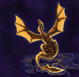 Lava dragon by Yantiskra
