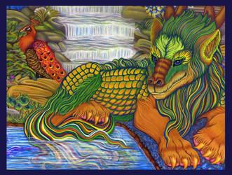 Fairy Tales: Green Tea Falls by purplegoldfish
