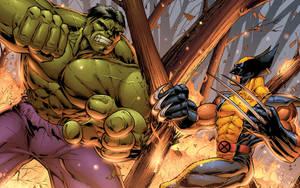 Wolverine vs Hulk by DashMartin