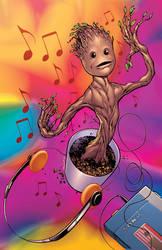Dancing Baby Groot by DashMartin