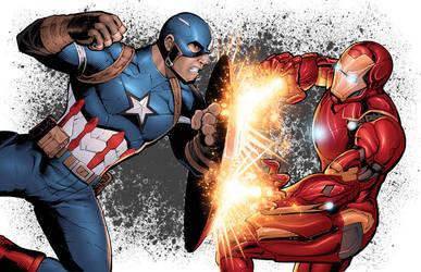 CivilWar: Cap vs Iron Man by DashMartin