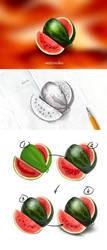 Sketch watermelon by st-valentin
