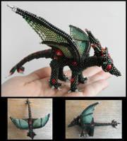 Shiny green dragon by Rrkra