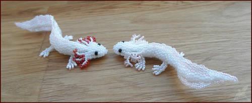 Axolotls by Rrkra