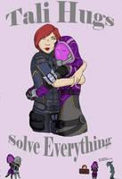 Tali Hugs Solve Everything by MeEmilee