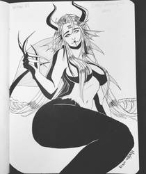 Inktober Day 7: Ceasg : Maiden of the Waves by LunaLuzz