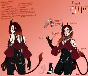 Genevra character reference by LunaLuzz