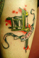Tattoo machine tattoo by m40a2