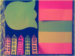 Post-it Houses by MishUMuch